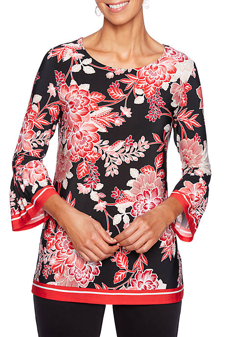 Ruby Rd Petite In The Mix Floral Print