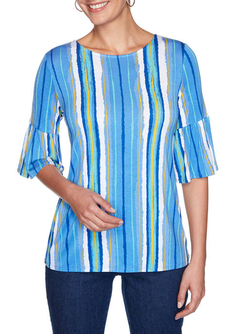 Ruby Rd Womens Fresh & Fun Painterly Stripe