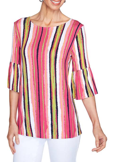 Ruby Rd Womens Fresh & Fun Painterly Stripe