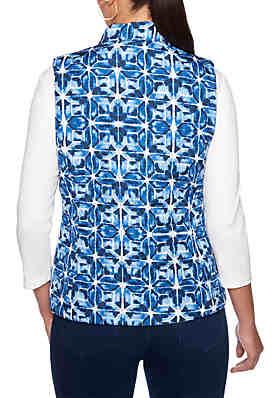 ... Ruby Rd Into The Blue Tie Dye Reversible Vest e2eca65c37