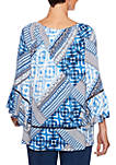Into The Blue Patchwork Tunic