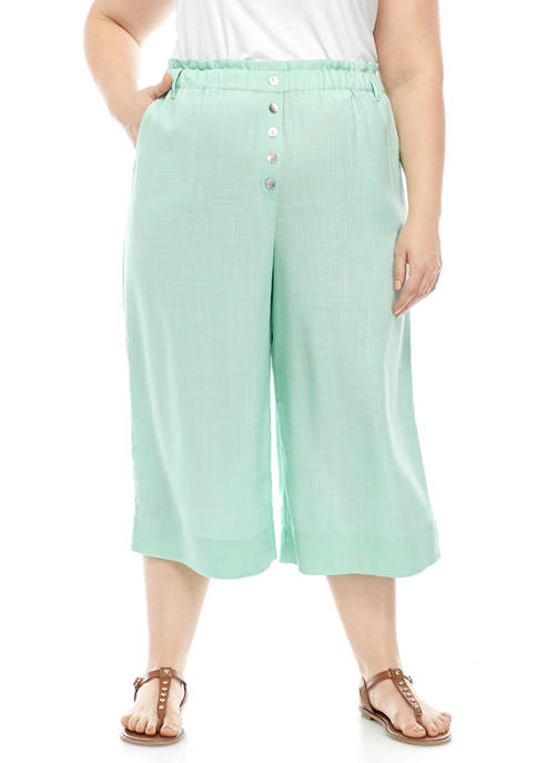 Ruby Rd Plus Size Laundered Linen Pull On