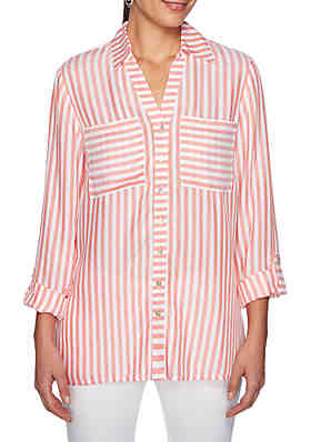 3c6536a150 Ruby Rd Must Haves Woven Stripe Shirt ...