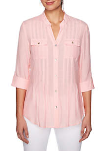 Ruby Rd Must Haves Solid Woven Shirt