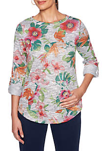 9a3410ee14465 ... Ruby Rd Floral Marled Slub Pullover Top Ruby Rd Floral Marled Slub  Pullover Top · Ruby Rd Plus Size Cowl Neck Fringe Pullover