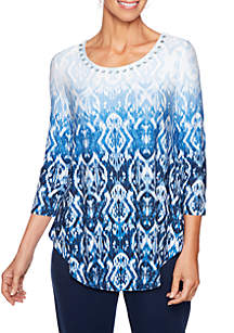 Ruby Rd Ombre Ikat Swing Top
