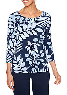 Puff Fern Print Top