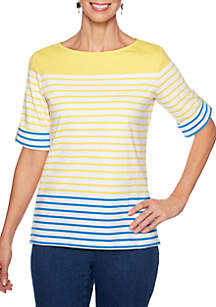 Ruby Rd Must Haves Multi Stripe T Shirt