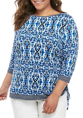 cb2155e3fdd112 Ruby Rd Plus Size Must Haves Printed Jersey Tunic ...