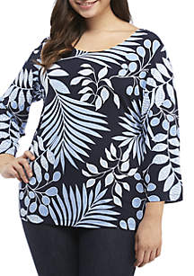 Ruby Rd Plus Size Scoop Neck Top
