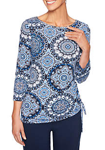 Medallion Knit Top