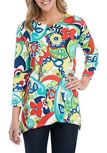 5c1e8eb91e7 ... Shirt · Ruby Rd Shark Bite Paisley Pattern Top