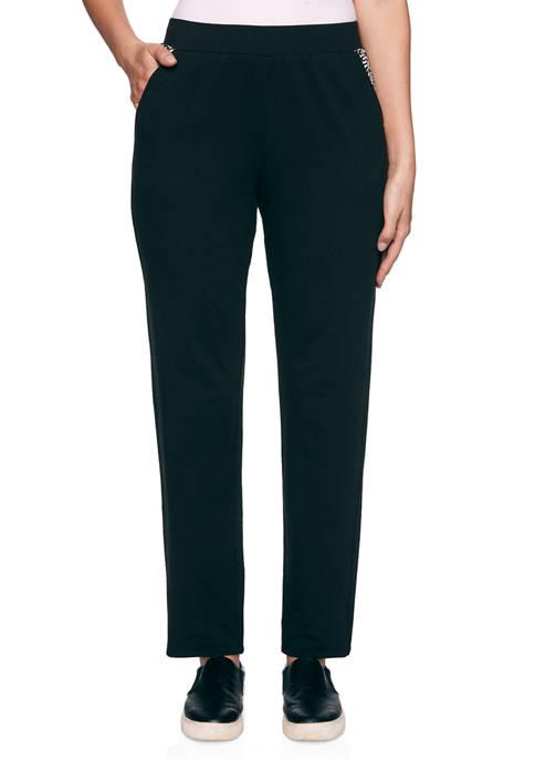 Womens Monochrome Mixed Mini Leopard Print Pants