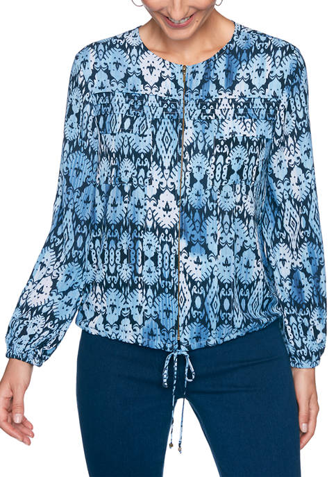 Womens Casual Cool Printed Jacket