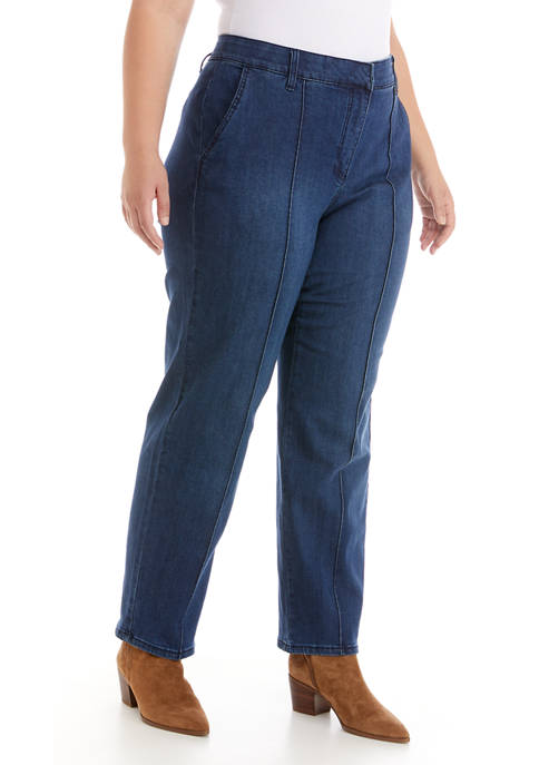 Plus Size Casual Cool Pull On Twill Pants