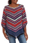 Plus Size Casual Cool 3/4 Sleeve Round Neck Top