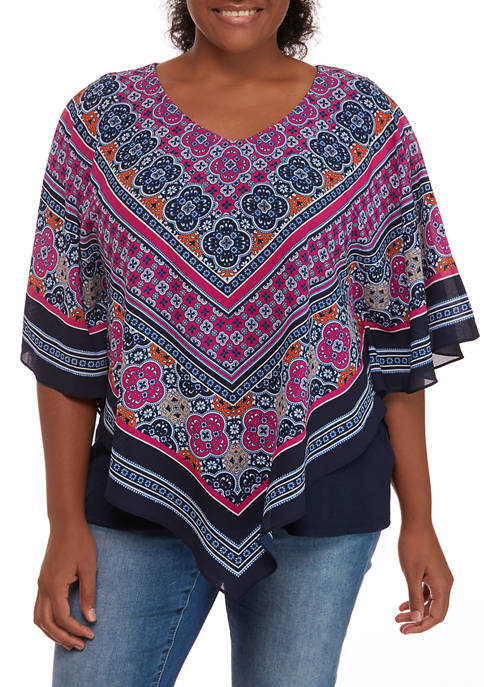 Womens Casual Cool Butterfly V-Neck Top