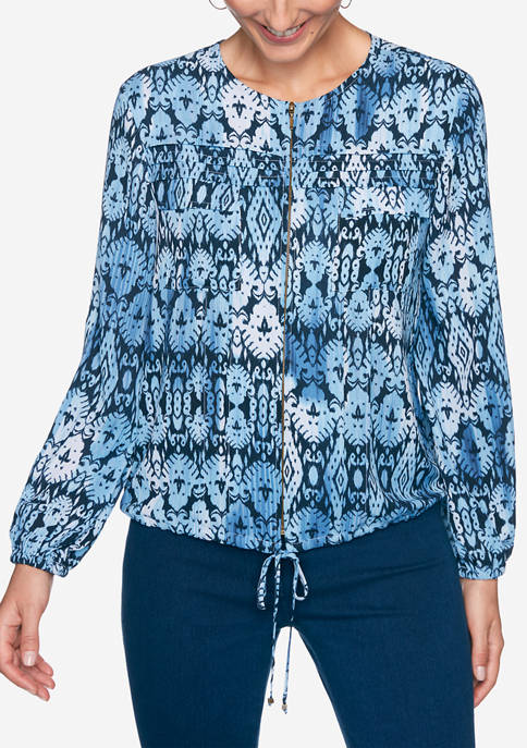 Petite Casual Cool Mirage Print Jacket