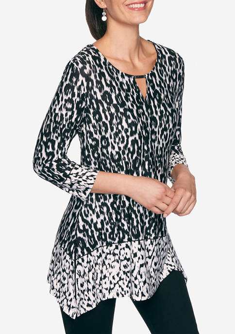 Ruby Rd Womens Must Haves Leopard Ikat Border