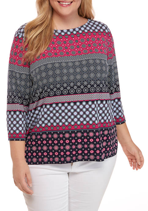 Ruby Rd Plus Size Casual Cool 3/4 Sleeve