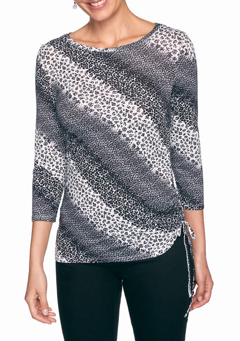 Ruby Rd Womens Must Haves Diagonal Abstract Top