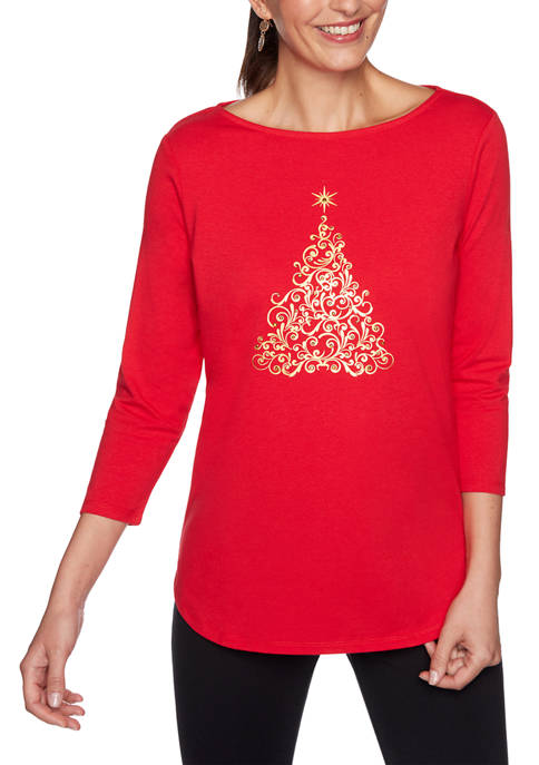 Ruby Rd Womens Must Haves II Boat Neck