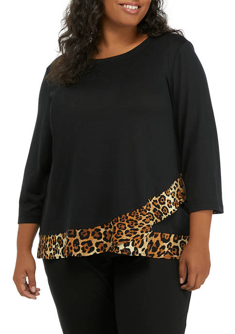 Ruby Rd Plus Size Double The Fun 3/4