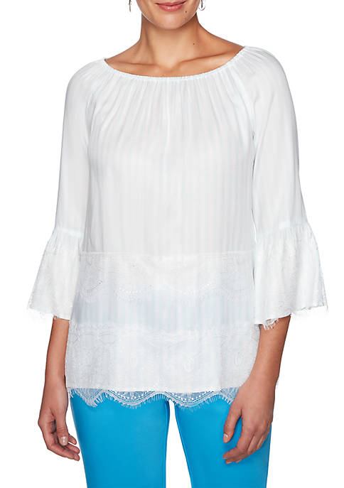 Ruby Rd Martinique Scoop Neck Top