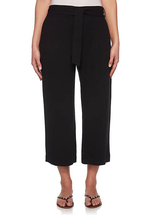 Tribe Vibes Belted Silky Linen Pants