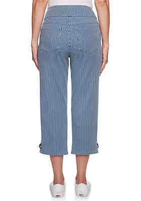 9fa9b21ce9d1 ... Ruby Rd Tried & True Pull On Engineered Stripe Capri Pants