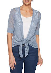 Ruby Rd Tried & True Pointelle Cardigan Sweater