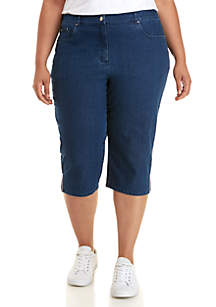 Alia Womens Pull On Capris Blue Denim Size 12 Suitable For Men And Women Of All Ages In All Seasons Jeans