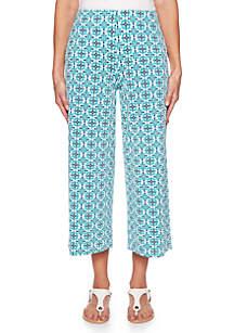 Ruby Rd Amalfi Coast Foulard Culotte Pants