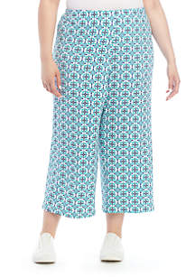 63d1f52b18 ... Ruby Rd Plus Size Pull On Knit Culotte Pants