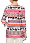 Eastern Promise Elephant Border Knit Top