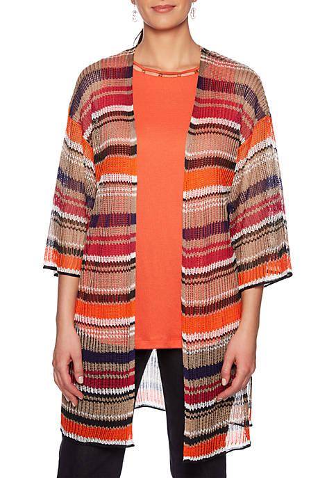 Eastern Promise Multi Stripe Sweater Duster