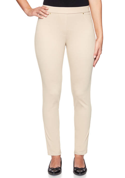 Petite Pattern Play Pull On Knited Twill Pants