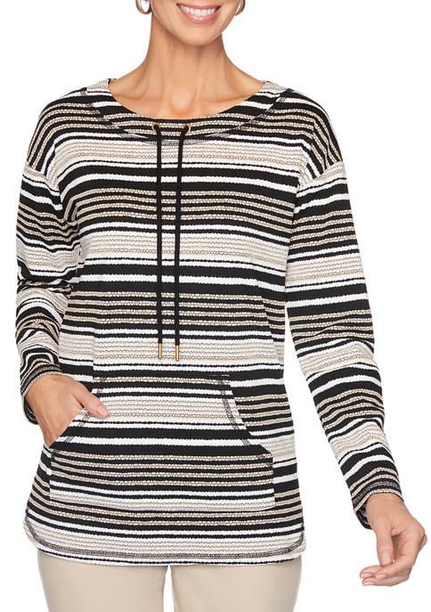 Petite Pebble Striped Sweatshirt