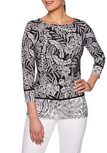 c11587dd7e5 ... Knit Top · Ruby Rd Petite Must Haves Border Print Top