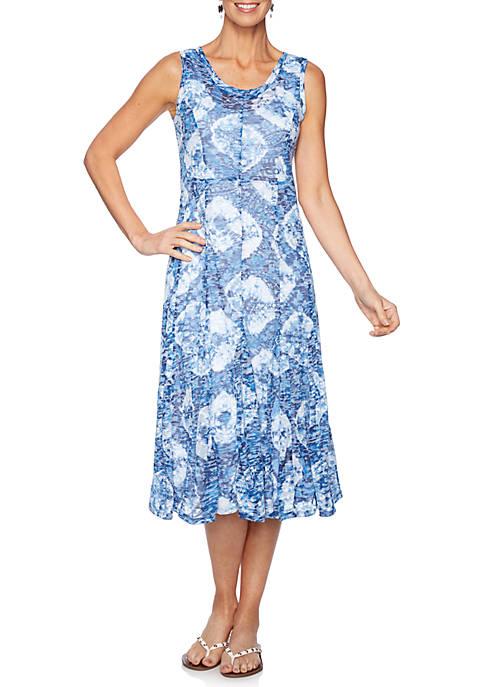 Sleeveless Burnout Paisley Dress