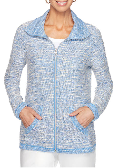 Ruby Rd Womens Must Haves Athletic Zip Front