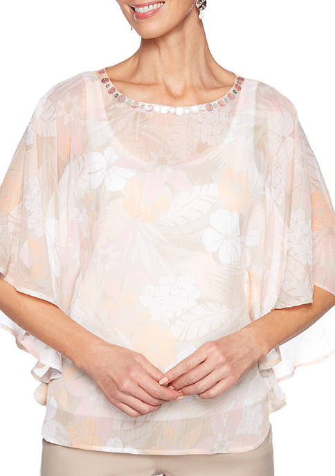 Ruby Rd Make Me Blush Scoop Neck Blouse
