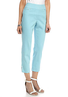 Ruby Rd Petite Ti Amo Pull On Extra Stretch Denim Pant