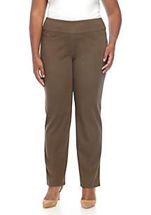 Plus Size Global Safari Pull-On Twill Pants