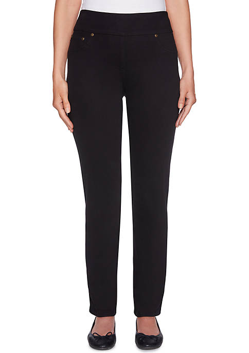 Ruby Rd Petite Pull-On Twill Pants