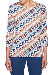 Petite Size Escalante Patterned Knit Top