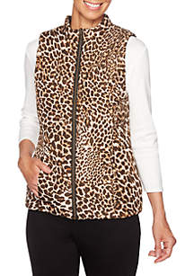 Must Haves Animal Printed Reverse Vest
