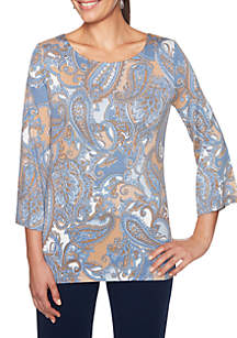 Must Haves II Paisley Knit Top