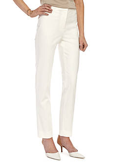 Ruby Rd Petite Desert Rose Double Face Stretch Pants