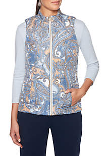 Petite Must Haves Paisley Printed Reversible Vest
